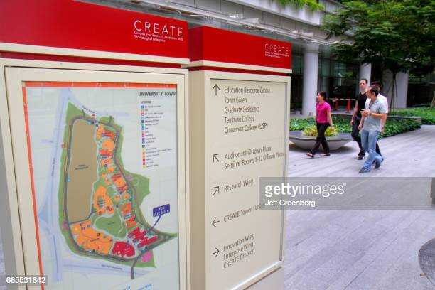 A directory map at the National University of Singapore