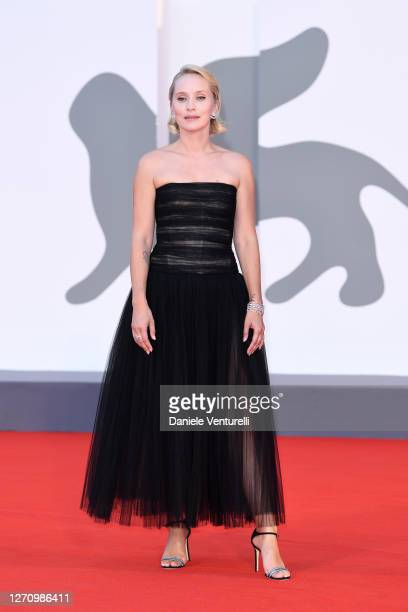 Directpr Mona Fastvold walks the red carpet ahead of the movie The World To Come at the 77th Venice Film Festival on September 06 2020 in Venice Italy