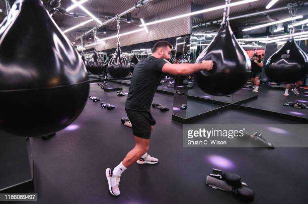 Diren Kartel takes part in a charity KOBOX class at KOBOX Marylebone raising funds for Rainbow Railroad a charity which helps members of the LGBTQ...