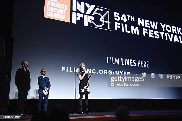 Diretor Alexis Bloom speaks onstage at 'Bright Lights' Intro and QA at Alice Tully Hall Lincoln Center on October 10 2016 in New York City