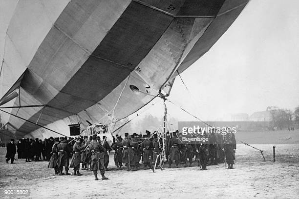 Dirigible with German Soldiers