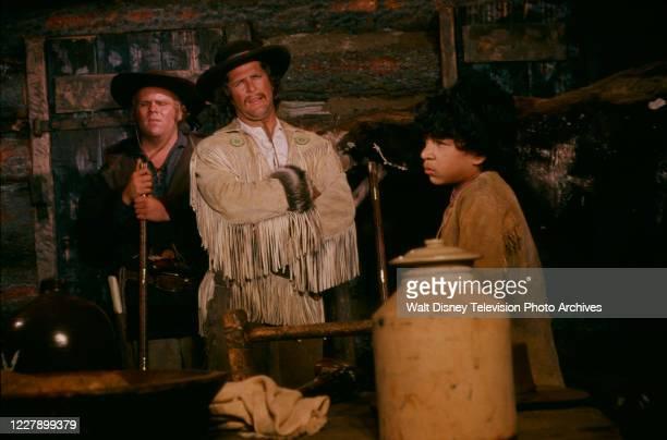 Dirk Blocker, Ben Murphy, Allan Reyes appearing in the western / period piece ABC tv movie 'Bridger'.