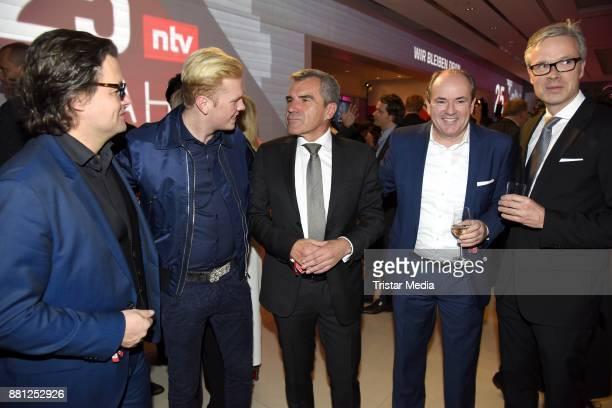 Dirk Geuer Leon Loewentraut Hans Demmel Wolfram Kons and Frank Hoffmann attend the 25 years anniversary ntv event at Bertelsmann Repraesentanz on...