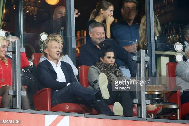 Dirk Kuyt Gertrude Kuyt during the First round Dutch Cup match between Feyenoord Rotterdam and Ado Den Haag at the Kuip on September 20 2017 in...