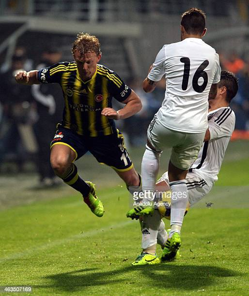 Dirk Kuyt of Fenerbahce during Fenerbahce Neftchi Baku match in Antalya on January 18 2014