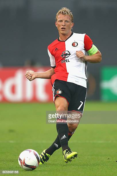 Dirk Kuyt of Feyenoord in action during the UEFA Europa League Group A match between Feyenoord and Manchester United FC at Feijenoord Stadion on...