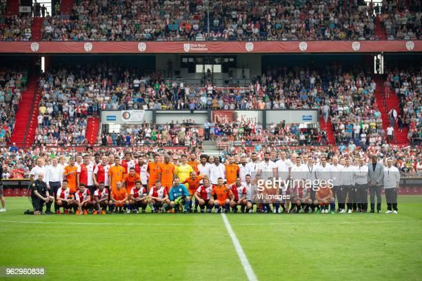 Dirk Kuyt of Feyenoord, Wilfred Bouma of Holland, Ryan Babel of Holland during the Dirk Kuyt Testimonial match at stadium de Kuip on May 27, 2018 in...