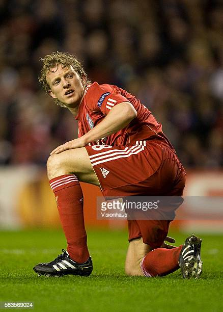Dirk Kuyt of Liverpool during the UEFA Europa League Round of 32 2nd Leg match between Liverpool and Sparta Prague at Anfield Stadium in Liverpool UK...