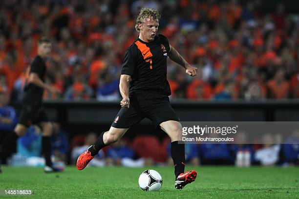Dirk Kuyt of Netherlands in action during the International Friendly between the Netherlands and Slovakia at De Kuip Stadion on May 30 2012 in...
