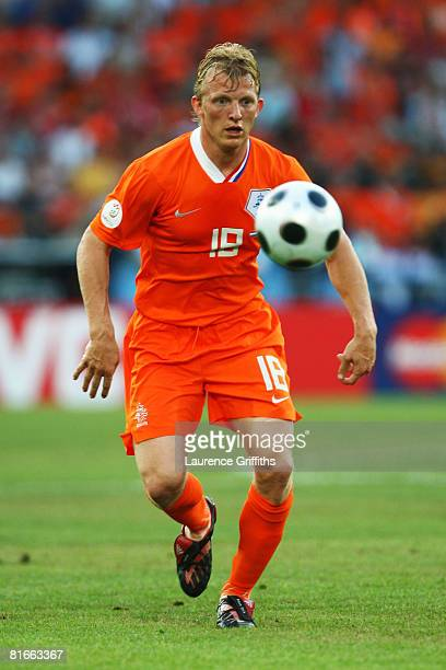 Dirk Kuyt of Netherlands in action during the UEFA EURO 2008 Quarter Final match between Netherlands and Russia at St JakobPark on June 21 2008 in...