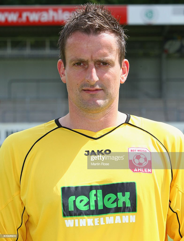Dirk Langerbein poses during the Bundesliga 2nd Team Presentation of RW Ahlen at the Werse stadium on July 19, 2008 in Ahlen, Germany.