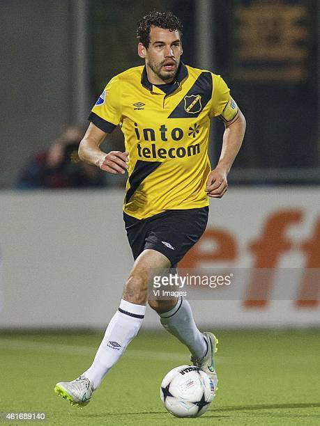 Dirk Marcellis of NAC Breda during the Dutch Eredivisie match between PEC Zwolle and NAC Breda at the IJsseldelta stadium on January 17 2015 in...