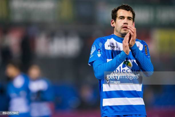 Dirk Marcellis of PEC Zwolle during the Dutch Eredivisie match between PEC Zwolle and AZ Alkmaar at the MAC3Park stadium on December 01 2017 in...