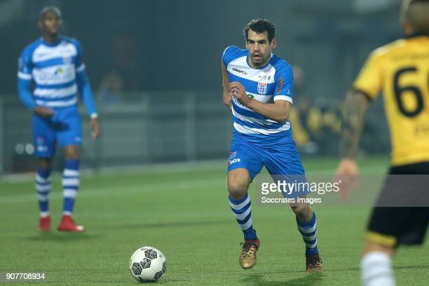 Dirk Marcellis of PEC Zwolle during the Dutch Eredivisie match between PEC Zwolle v NAC Breda at the MAC3PARK Stadium on January 20 2018 in Zwolle...