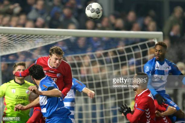 Dirk Marcellis of PEC Zwolle Rico Strieder of FC Utrecht Sean Klaiber of FC Utrecht Terell Ondaan of PEC Zwolle during the Dutch Eredivisie match...