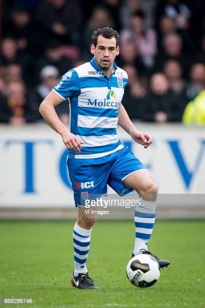 Dirk Marcellis of PEC Zwolleduring the Dutch Eredivisie match between Go Ahead Eagles and PEC Zwolle at The Adelaarshorst on March 19 2017 in...