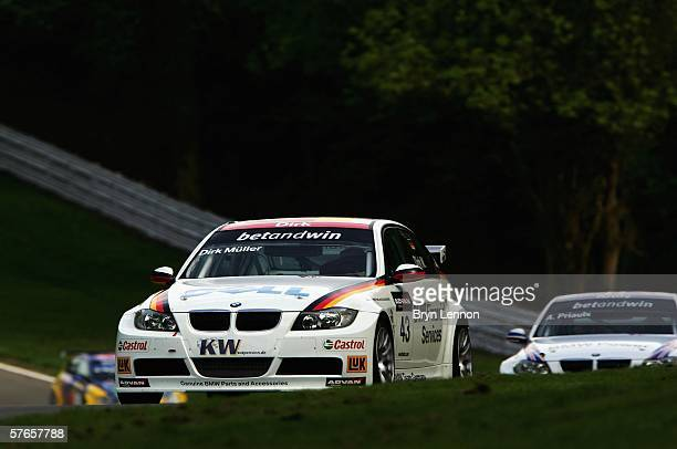 Dirk Muller of Germany and BMW Team Germany in action during practice for the FIA World Touring Car Championship on May 21 2006 at Brands Hatch...