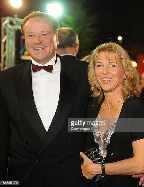 Dirk Niebel a german politician and his wife Andrea arrive the 'Ball of Stars 2008' on October 18 2008 in Mannheim Germany