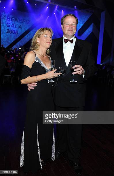 Dirk Niebel a german politician and his wife Andrea attend the 'Ball of Stars 2008' on October 18 2008 in Mannheim Germany