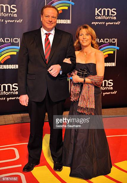 Dirk Niebel and Andrea Niebel arrive for the Radio Regenbogen Award at the Schwarzwaldhalle on March 19 2010 in Karlsruhe Germany