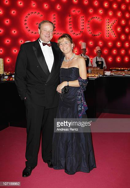 Dirk Niebel and wife Andrea attend the annual press ball 'Bundespresseball' at Hotel Intercontinental on November 26 2010 in Berlin Germany