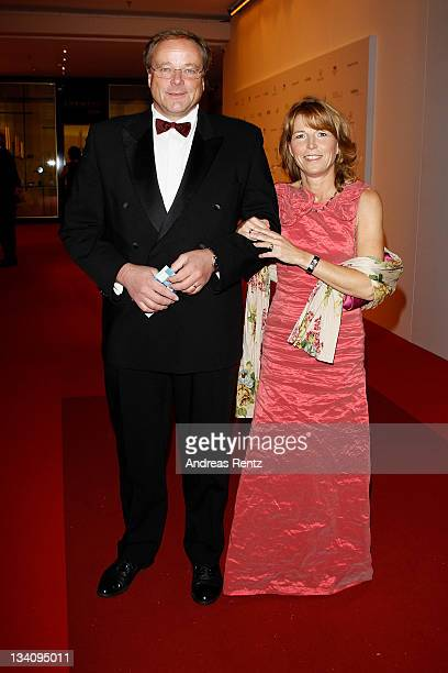 Dirk Niebel and wife Andrea attend the Bundespresseball at Hotel Intercontinental on November 25 2011 in Berlin Germany