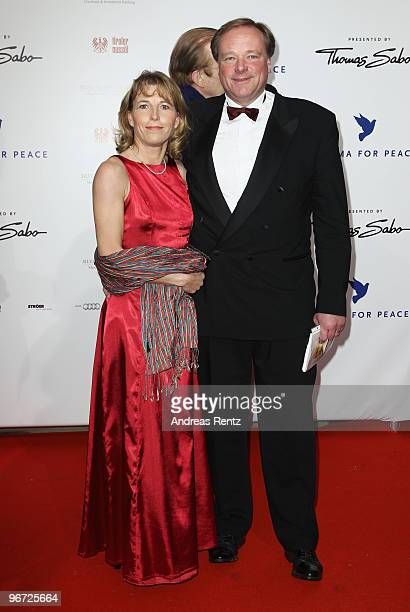 Dirk Niebel and wife Andrea attends the Annual Cinema For Peace Gala during day five of the 60th Berlin International Film Festival at the...
