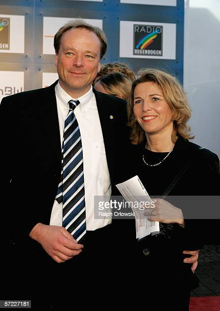 Dirk Niebel Secretary General of German liberal party FDP and his wife Andrea arrive at the 9th Radio Regenbogen Award in the Schwarzwaldhalle on...