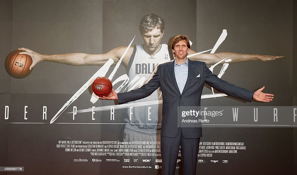 Dirk Nowitzki attends the premiere of the film 'Nowitzki. Der Perfekte Wurf' at Cinedom on September 16, 2014 in Cologne, Germany.