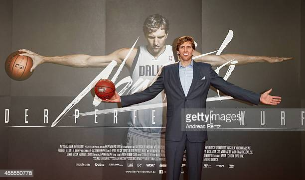 Dirk Nowitzki attends the premiere of the film 'Nowitzki Der Perfekte Wurf' at Cinedom on September 16 2014 in Cologne Germany