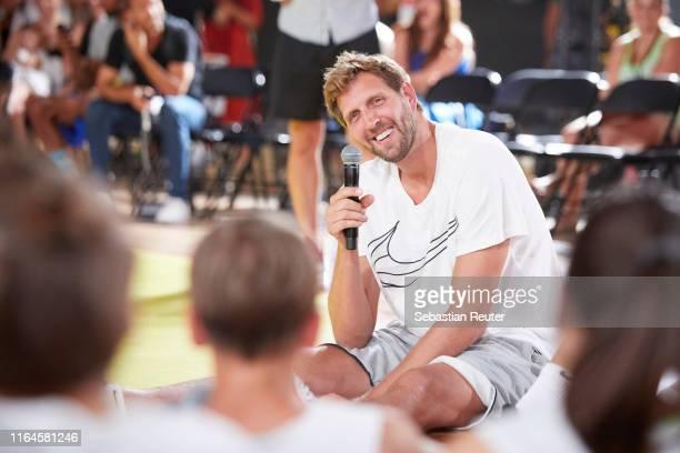 Dirk Nowitzki is seen at the Nike Basketball Festival at Wriezener Karree on July 27 2019 in Berlin Germany
