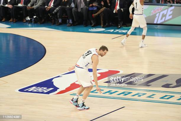 Dirk Nowitzki of Team Giannis celebrates during the 2019 NBA AllStar Game on February 17 2019 at the Spectrum Center in Charlotte North Carolina NOTE...