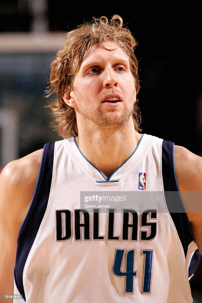 Dirk Nowitzki #41 of the Dallas Mavericks looks across the court during the game against the Los Angeles Clippers on December 21, 2007 at American Airlines Center in Dallas, Texas. The Mavericks won 102-89.