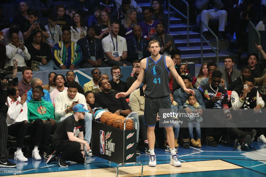 Dirk Nowitzki Of The Dallas Mavericks Participates In The
