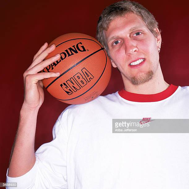 Dirk Nowitzki of the Dallas Mavericks poses for a portrait during the 2004 NBA AllStar Weekend on February 13 2004 in Los Angeles California NOTE TO...