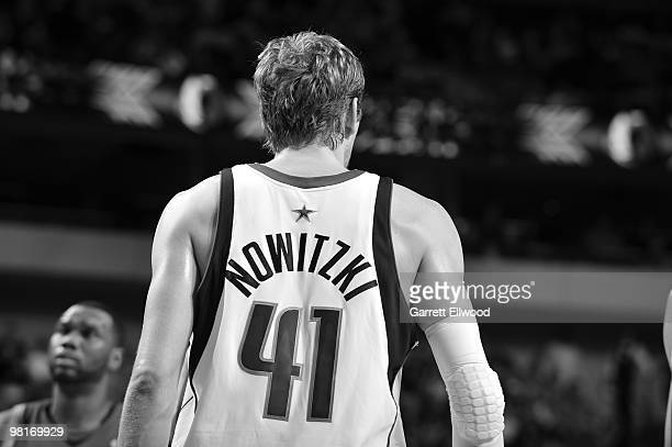 Dirk Nowitzki of the Dallas Mavericks stands on the court during the game against the Minnesota Timberwolves on February 5 2010 at the American...