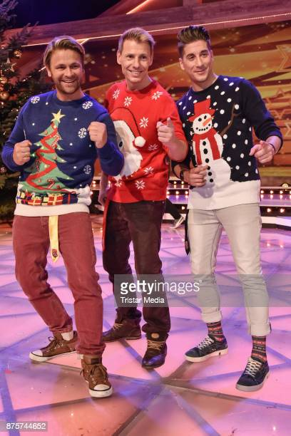 Dirk Ostermann Florian Flesch and Timo Schulz during the Stefanie Hertel Show 'Die grosse Show der Weihnachtslieder' on November 17 2017 in Suhl...