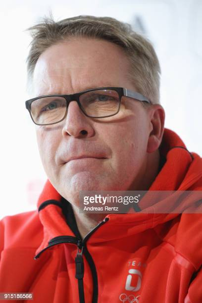 Dirk Schimmelpfennig of the DOSB attends the opening press conference 'Olympia Team Deutschland' at the German House during previews ahead of the...