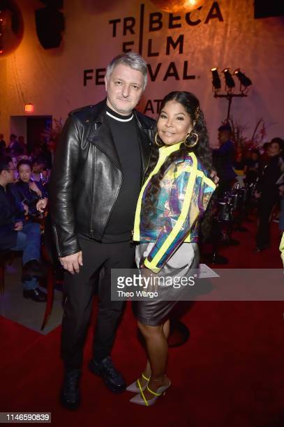 Dirk Schoenberger and Misa Hylton Brim attend the premiere of The Remix Hip Hop x Fashion at Tribeca Film Festival at Spring Studios on May 02 2019...