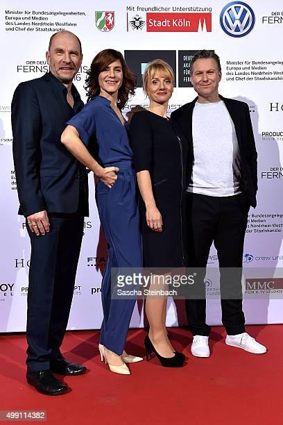 Dirk Schubert, Christina Hecke, Christina Grosse and Dirk Borchardt attend the German television award by the Deutsche Akademie fuer Fernsehen at...