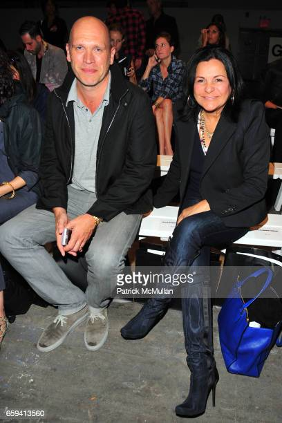 Dirk Standen and Candy Pratts Price attend ALEXANDER WANG Spring 2010 Collection at Pier 94 on September 12 2009 in New York City