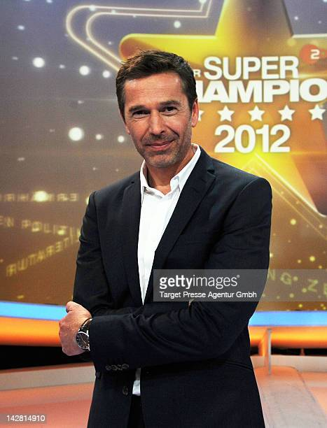 Dirk Steffens attends the presentation of the ZDF 'Super-Champion' show at studios Berlin-Adlershof on April 12, 2012 in Berlin, Germany.