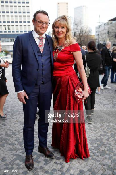 Dirk Ullmann and Nanna Kuckuck attend the Victress Awards gala on April 9 2018 in Berlin Germany