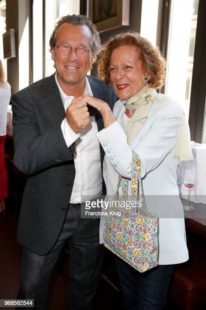 Dirk von Haeften and Marietta Andre during the Ladies Lunch at DIE BANK on June 6, 2018 in Hamburg, Germany.