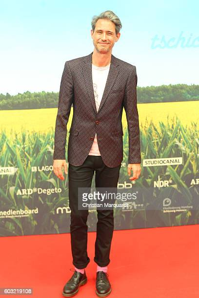 Dirk von Lowtzow, Singer of the Band Tocotronic, attends the 'TSCHICK' Premiere at Kino International on September 12, 2016 in Berlin, Germany.