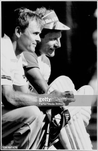 Dirk Wellham and Peter Taylor discuss their inclusion in the Australian team before training with the NSW team at the SCG yesterday January 06 1987
