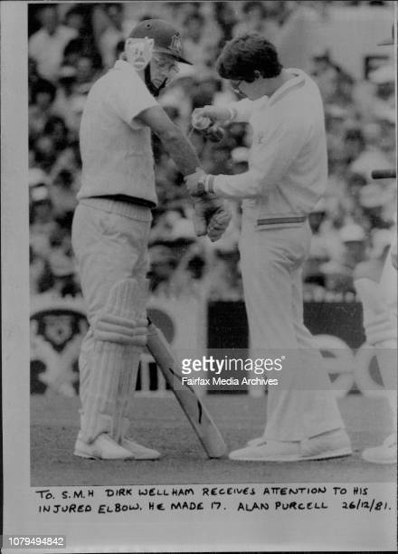 Dirk Wellham receives attention to his injured elbow He made 17 December 26 1981