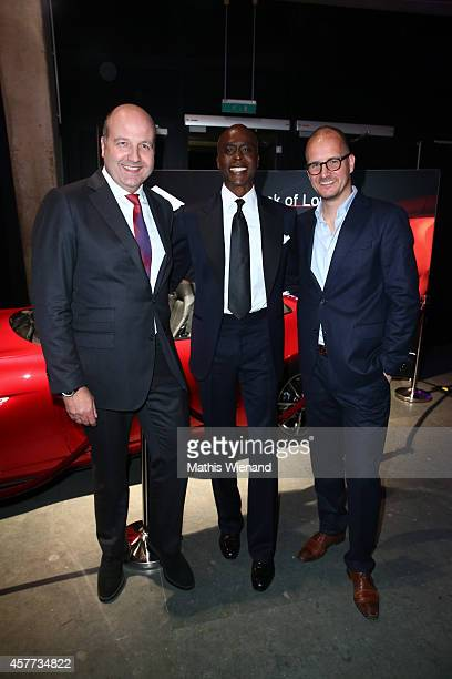 Dirk Wiedenmann Bruce Darnell and Tim Affeld attend the InTouch Awards 2014 at Port Seven on October 23 2014 in Duesseldorf Germany
