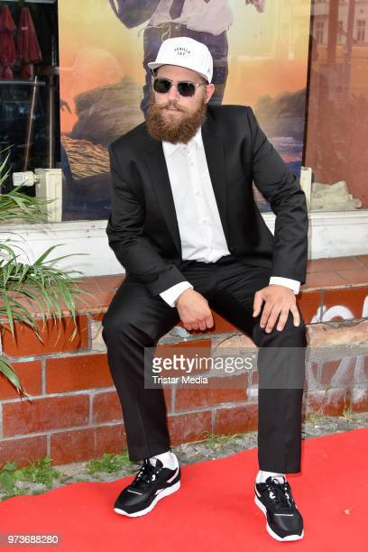 Dirk Witek alias MC Fitti attends the film preview of 'Der Sportpenner' on June 13 2018 in Berlin Germany
