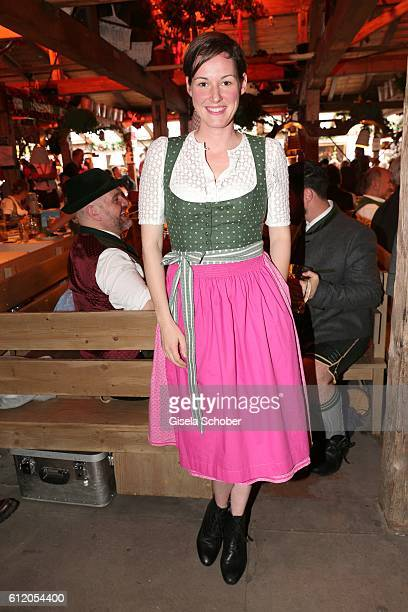 Dirndl designer Amsel Fashion Alexandra von Frankenberg during the Oktoberfest at Kaeferschaenke / Theresienwiese on October 2 2016 in Munich Germany